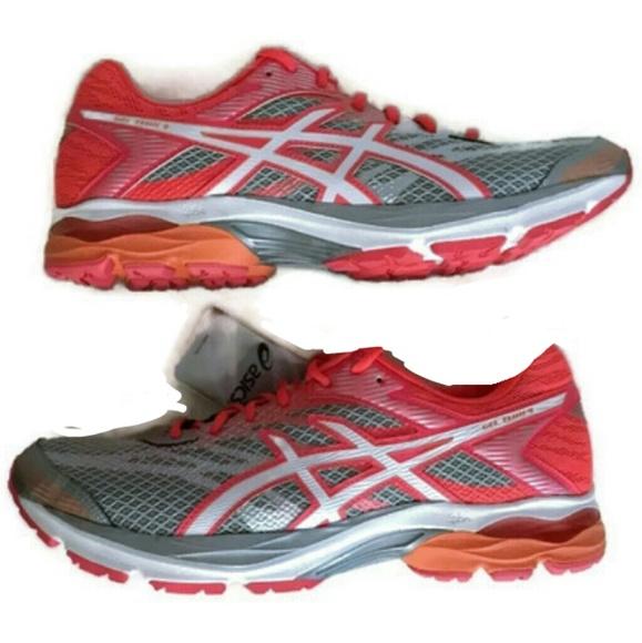Asics Gel Flux 4 Running Shoes Womens 12 Grey Pink NWT